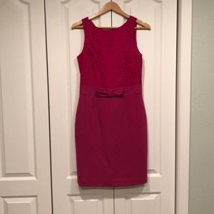 Banana Republic pink lace dress with bow